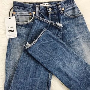 Re/done Levi's high rise straight cropped